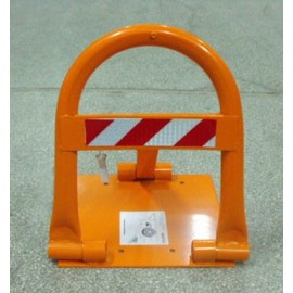 Anti-parking device with holes for padlock