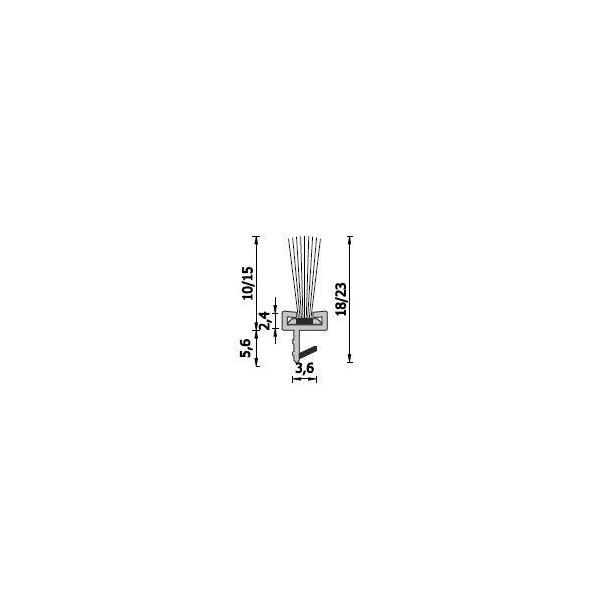 Уплътнение-четка за внутване A219/15