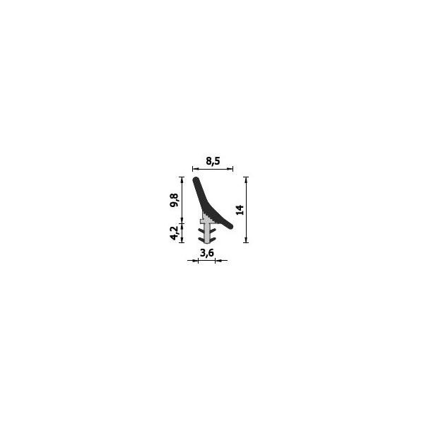 Уплътнение профилно A204x215