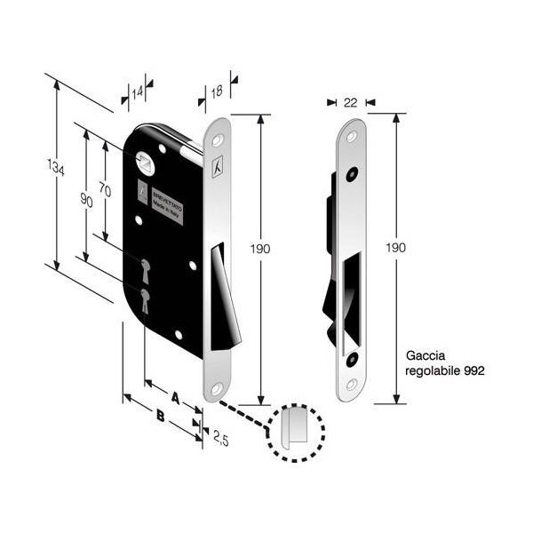 Магнитна брава B-ONE
